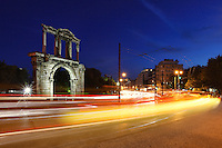 Arch of Hadrian (132 A.D.) in Athens, Greece