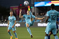 SAN JOSE, CA - AUGUST 17: Jan Gregus #8 of Minnesota United controls the ball during a game between San Jose Earthquakes and Minnesota United FC at PayPal Park on August 17, 2021 in San Jose, California.