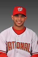 14 March 2008: ..Portrait of Yhonson Lopez, Washington Nationals Minor League player at Spring Training Camp 2008..Mandatory Photo Credit: Ed Wolfstein Photo