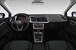 Stock photo of straight dashboard view of a 2018 Seat Leon Xcellence 5 Door Hatchback