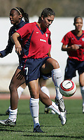MAR 11, 2006: Quarteira, Portugal:  USWNT midfielder Shannon Boxx.
