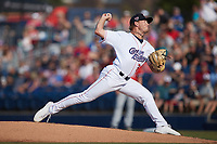 Kannapolis Cannon Ballers starting pitcher Chase Solesky (26) in action against the Charleston RiverDogs at Atrium Health Ballpark on July 4, 2021 in Kannapolis, North Carolina. (Brian Westerholt/Four Seam Images)
