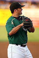 August 15 2008:  Justin Frash of the Kane County Cougars, Class-A affiliate of the Oakland Athletics, during a game at Philip B. Elfstrom Stadium in Geneva, IL.  Photo by:  Mike Janes/Four Seam Images