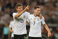 l-r:  of  Thomas Mueller #13 (Germany) and Julian Draxler #7 (Germany)  2:0, Germany vs. Norway, Football, World Championships-Qualifiers, 04.09.2017 *** Local Caption *** © pixathlon<br /> Contact: +49-40-22 63 02 60 , info@pixathlon.de