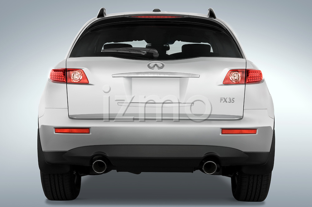Straight rear view of a 2008 Infiniti FX35 SUV