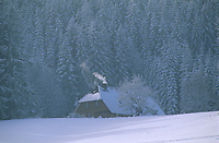 Europe/Allemagne/Forêt Noire/Env de Hinterzarten : Chalet et paysage rural en hiver