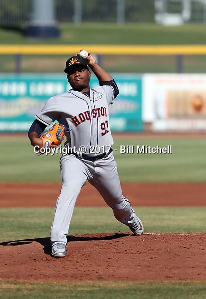 Framber Valdez - Mesa Solar Sox - 2017 Arizona Fall League (Bill Mitchell)