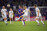 Orlando, FL - Saturday March 24, 2018: Utah Royals defender Katie Bowen (6) plays the ball during a regular season National Women's Soccer League (NWSL) match between the Orlando Pride and the Utah Royals FC at Orlando City Stadium. The game ended in a 1-1 draw.