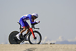 Attila Valter (HUN) Groupama-FDJ during Stage 2 of the 2021 UAE Tour an individual time trial running 13km around  Al Hudayriyat Island, Abu Dhabi, UAE. 22nd February 2021.  <br /> Picture: Eoin Clarke | Cyclefile<br /> <br /> All photos usage must carry mandatory copyright credit (© Cyclefile | Eoin Clarke)