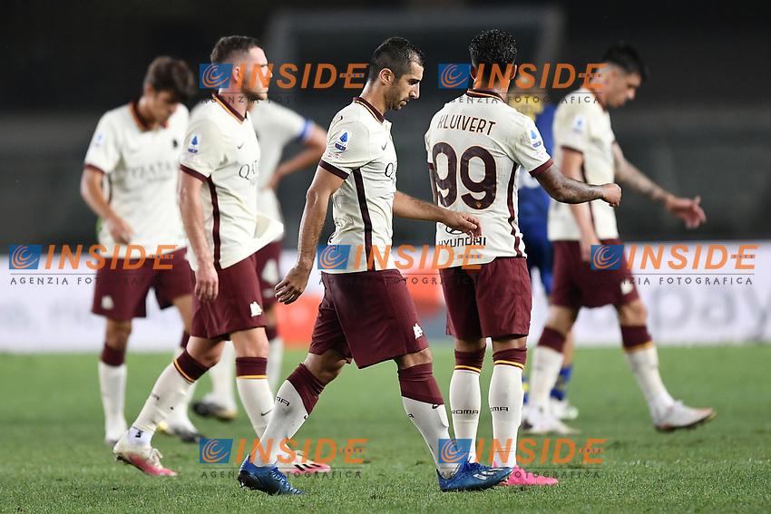 delusione Roma <br /> Serie A football match between Hellas Verona and AS Roma at Marcantonio Bentegodi Stadium in Verona (Italy), September 19th, 2020. Photo Image Sport / Insidefoto
