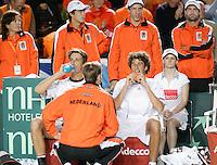 7-4-07, England, Birmingham, Tennis, Daviscup England-Netherlands, Rogier Wassen and Robin Haasebijten het verlies van zich af