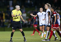 Boyds, MD - Saturday May 07, 2016: Referee Christopher Spivey during a regular season National Women's Soccer League (NWSL) match at Maureen Hendricks Field, Maryland SoccerPlex. Washington Spirit tied the Portland Thorns 0-0.