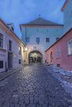 Croatia, Zagreb, Stone Gate at Dawn