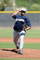 Milwaukee Brewers pitcher Angel Ventura (22) during an Instructional League game against the Seattle Mariners on October 4, 2014 at Peoria Stadium Training Complex in Peoria, Arizona.  (Mike Janes/Four Seam Images)