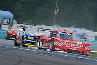 #99 Gainsco/Bob Stallings Racing Chevrolet/Riley of Jon Fogarty of Alex Gurney leads a pack through the chicane.