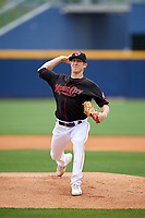 Nashville Sounds starting pitcher Daniel Gossett (2) delivers a pitch during a game against the New Orleans Baby Cakes on May 1, 2017 at First Tennessee Park in Nashville, Tennessee.  Nashville defeated New Orleans 6-4.  (Mike Janes/Four Seam Images)
