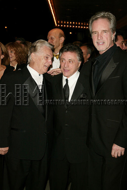 Tommy DeVito, Frankie Valli and Bob Gaudio<br />( THE FOUR SEASONS ) Attending the Opening Night Celebration for the New Broadway Musical JERSEY BOYS at the August Wilson Theatre in New York City.<br />The Evening is inspired by the the Lives and Musical Journey of Frankie Valli and the Four Seasons.<br />November 6, 2005