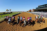 November 7, 2020 : Horses break out of the starting gate during the Big Ass Fans Dirt Mile on Breeders' Cup Championship Saturday at Keeneland Race Course in Lexington, Kentucky on November 7, 2020. Matt Wooley/Eclipse Sportswire/Breeders' Cup/CSM