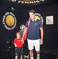 Februari 11, 2015, Netherlands, Rotterdam, Ahoy, ABN AMRO World Tennis Tournament, Jesse Huta Galung (NED)<br /> Photo: Tennisimages/Henk Koster