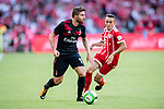AC Milan Forward Fabio Borini (L) in action against Bayern Munich Defender Rafinha de Souza (R) during the 2017 International Champions Cup China  match between FC Bayern and AC Milan at Universiade Sports Centre Stadium on July 22, 2017 in Shenzhen, China. Photo by Marcio Rodrigo Machado / Power Sport Images