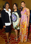 Chaney Williams-Ledet, Marsha Penn and Tammy Adams at the Ivy Educational and Charitable Foundation fashion show luncheon at the Hilton Americas Sunday April 05,2009.(Dave Rossman/For the Chronicle)
