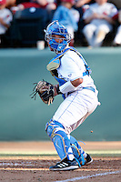 Darrell Miller Jr. #31 of the UCLA Bruins during a baseball game against the Oklahoma Sooners at Jackie Robinson Stadium on March 9, 2013 in Los Angeles, California. (Larry Goren/Four Seam Images)