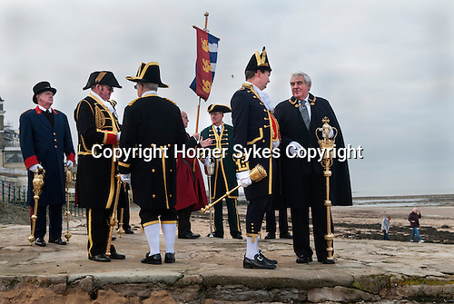 Town Hall officials Beadles at Blessing the Sea ceremony to celebrate Epiphany Margate Kent UK 2017