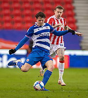 6th February 2021; Bet365 Stadium, Stoke, Staffordshire, England; English Football League Championship Football, Stoke City versus Reading; Tom Holmes of Reading crosses the ball
