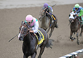 Solo Piano wins third race at Saratoga on Aug. 23, 2009 for trainer Bobby Frankel. Ramon Dominguez is the rider.