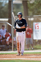 Caiden Matheny during the WWBA World Championship at the Roger Dean Complex on October 19, 2018 in Jupiter, Florida.  Caiden Matheny is an outfielder from Murrieta, California who attends Vista Murrieta High School and is committed to Washington.  (Mike Janes/Four Seam Images)