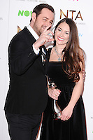Danny Dyer and Lacey Turner<br /> in the winners room at the National TV Awards 2017 held at the O2 Arena, Greenwich, London.<br /> <br /> <br /> ©Ash Knotek  D3221  25/01/2017