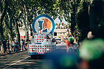 The publicity caravan passes by before the race Stage 16 of the 2019 Tour de France running 177km from Nimes to Nimes, France. 23rd July 2019.<br /> Picture: ASO/Thomas Maheux   Cyclefile<br /> All photos usage must carry mandatory copyright credit (© Cyclefile   ASO/Thomas Maheux)
