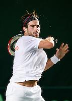 6-4-07, England, Birmingham, Tennis, Daviscup England-Netherlands,  Sluiter werkt zich in het zweet