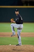Jupiter Hammerheads starting pitcher Jordan Holloway (24) during a Florida State League game against the Bradenton Marauders on April 19, 2019 at LECOM Park in Bradenton, Florida.  Bradenton defeated Jupiter 7-1.  (Mike Janes/Four Seam Images)