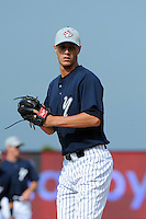 Staten Island Yankees pitcher Shane Greene (45) during first team workout at Richmond County Bank Ballpark at St. George in Staten Island, NY June 15, 2010.  Photo By Tomasso DeRosa/ Four Seam Images
