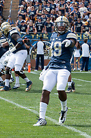 Pitt wide receiver Dontez Ford. The Pitt Panthers defeated the Villanova Wildcats 28-7 at Heinz Field, Pittsburgh, Pennsylvania on September 3, 2016.