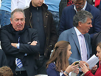 Gerrard Houlier and David Dein Watch From The Stands