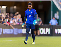 PHILADELPHIA, PA - AUGUST 29: Adrianna Franch #21 of the United States warms up prior to a game between Portugal and the USWNT at Lincoln Financial Field on August 29, 2019 in Philadelphia, PA.