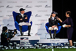 (R) Julien Epaillard and (L) Jane Richard Philips of Switzerland at the Longines Speed Challenge during the Longines Hong Kong Masters 2015 at the AsiaWorld Expo on 13 February 2015 in Hong Kong, China. Photo by Juan Flor / Power Sport Images