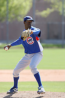 Ronny Morla, Chicago Cubs 2010 minor league spring training..Photo by:  Bill Mitchell/Four Seam Images.