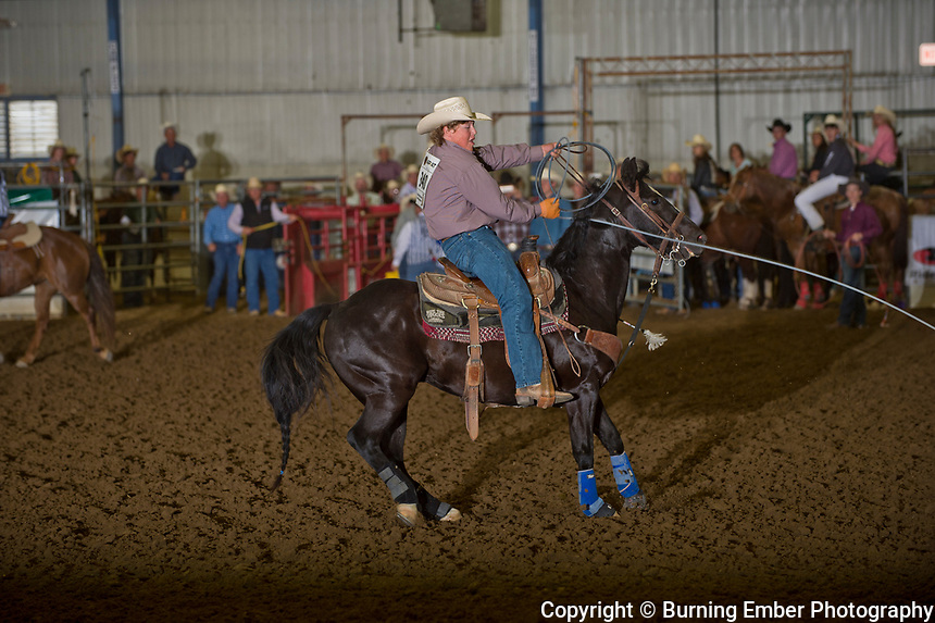 Billy Soderberg and Cade Herring in the Team Roping event during the 2nd go at the Gillette Wyoming High School Rodeo May 14th 2017.  Photo by Josh Homer/Burning Ember Photography.  Photo credit must be given on all uses.