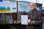 Former Denny's worker Kevin O'Connor who is against the proposed development of the new Court House at the former Denny's Meat Factory site at the Island of Geese in Tralee