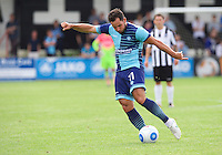Sam Wood of Wycombe Wanderers hits the ball into the top corner of the goal to make it 1-4 during the Friendly match between Maidenhead United and Wycombe Wanderers at York Road, Maidenhead, England on 30 July 2016. Photo by Alan  Stanford PRiME Media Images.