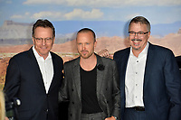 """LOS ANGELES, USA. October 08, 2019: Aaron Paul, Bryan Cranston & Vince Gilligan  at the premiere of """"El Camino: A Breaking Bad Movie"""" at the Regency Village Theatre.<br /> Picture: Paul Smith/Featureflash"""