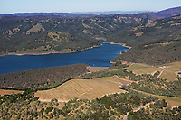aerial photograph of Lake Hennessey, Napa County, California
