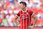 SHENZHEN, CHINA - JULY 22:Bayern Munich Forward Robert Lewandowski reacts during the 2017 International Champions Cup China match between FC Bayern and AC Milan at Universiade Sports Centre Stadium on July 22, 2017 in Shenzhen, China. Photo by Marcio Rodrigo Machado/Power Sport Images