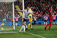 Michael Keane of England celebrates after scoring his side's first goal to equalise and make the score 1-1  <br /> Foto Daniel Chesterton / PHC / Insidefoto <br /> ITALY ONLY <br /> Podgorica 25-3-2019 <br /> Football Euro2020 Qualification Montenegro - England <br /> Foto Daniel Chesterton / PHC / Insidefoto <br /> ITALY ONLY