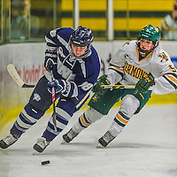 14 February 2015: University of New Hampshire Wildcat Defender Kate Haslett, a Sophomore from Rothesay, New Brunswick, in first period action against the University of Vermont Catamounts at Gutterson Fieldhouse in Burlington, Vermont. The Ladies played to a 3-3 tie in their final meeting of the NCAA Hockey East season. Mandatory Credit: Ed Wolfstein Photo *** RAW (NEF) Image File Available ***