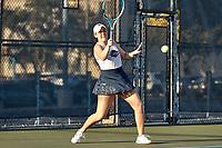 SAN ANTONIO, TX - JANUARY 30, 2021: The University of Texas at San Antonio Roadrunners fall to the University of Houston Cougars 4-3 at the UTSA Tennis Center (Photo by Jeff Huehn).