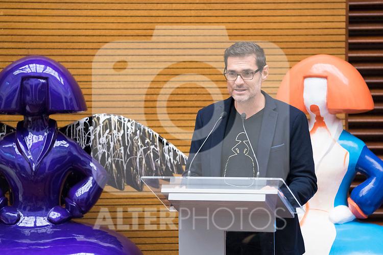Artist Antonio Azzato during the presentation of 'Meninas Madrid Gallery' at Madrid town hall. October 01, 2019. (ALTERPHOTOS/Francis Gonzalez)